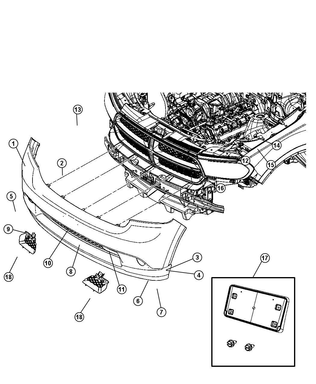 2013 Dodge Journey Bumper Parts Diagram. Dodge. Auto