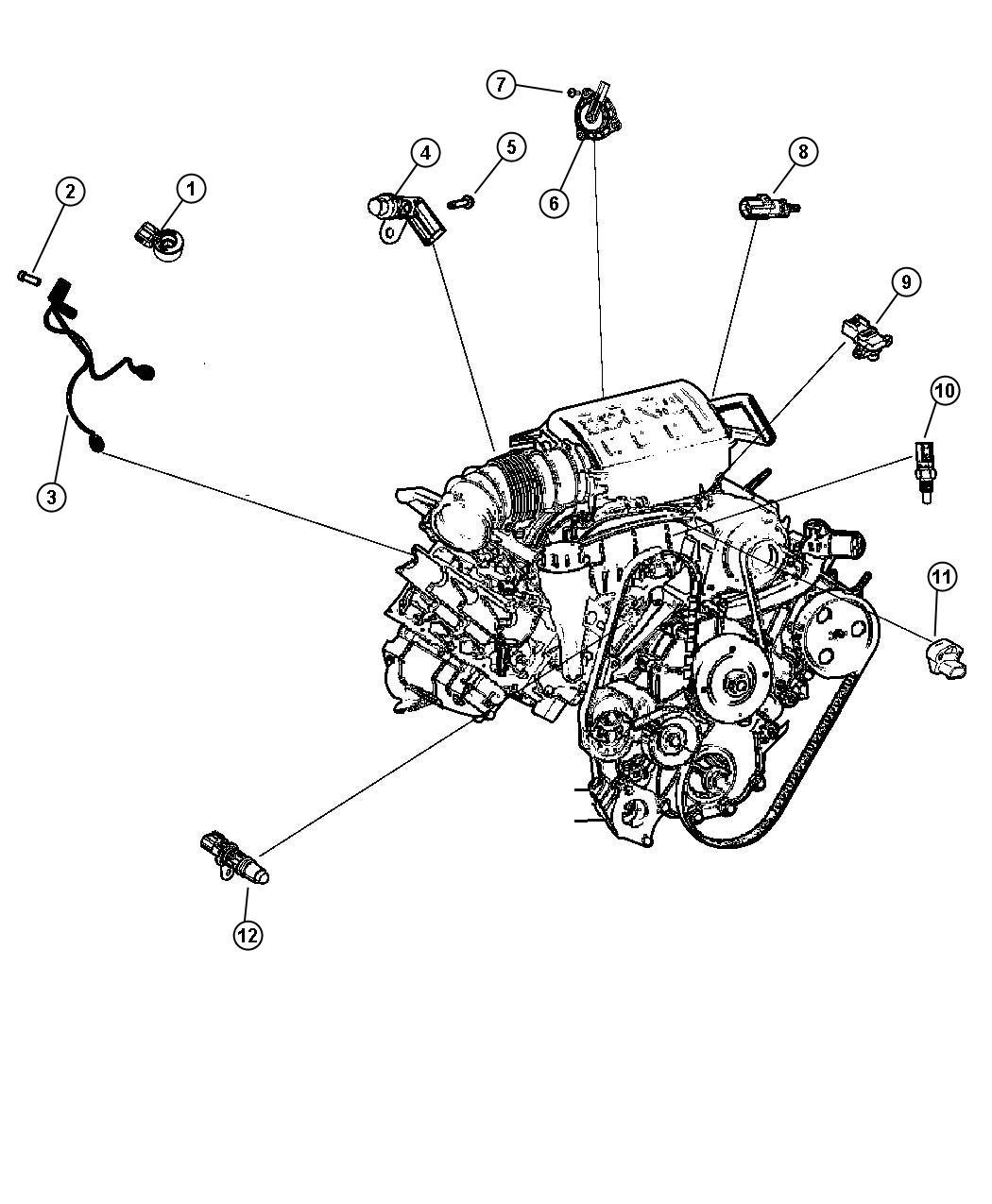 2011 Dodge Journey CREW Sensors Engine.