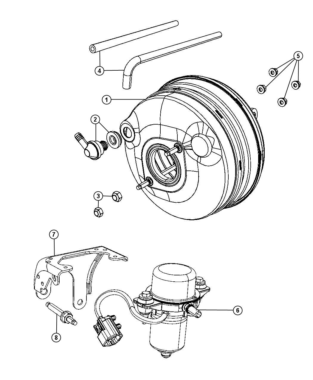 Chrysler Town & Country Valve. Brake booster check. Fxd