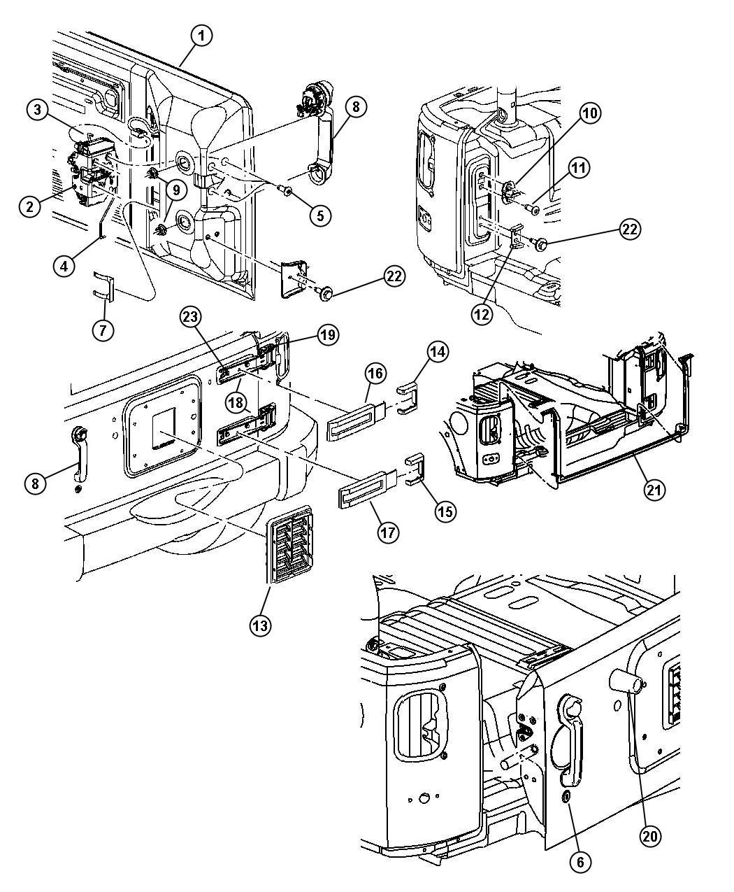 Jeep Wrangler Latch Swing Gate Power Lock