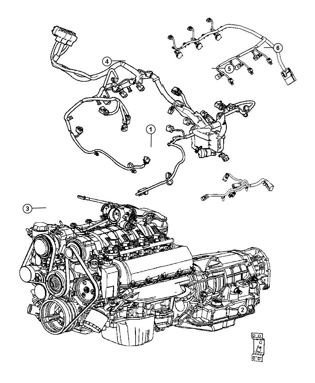 Dodge Grand Caravan Bracket Engine Wiring Injector
