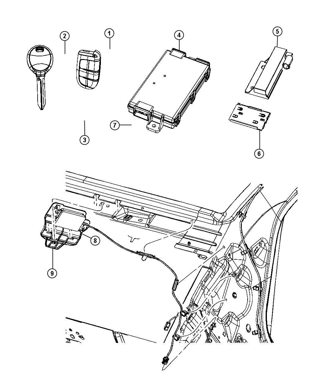 Chrysler 300 Receiver Hub Remote Start System