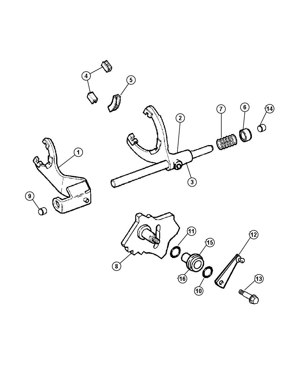 Jeep Wrangler Seal. Gearshift lever. Moduleman, dhw, iion
