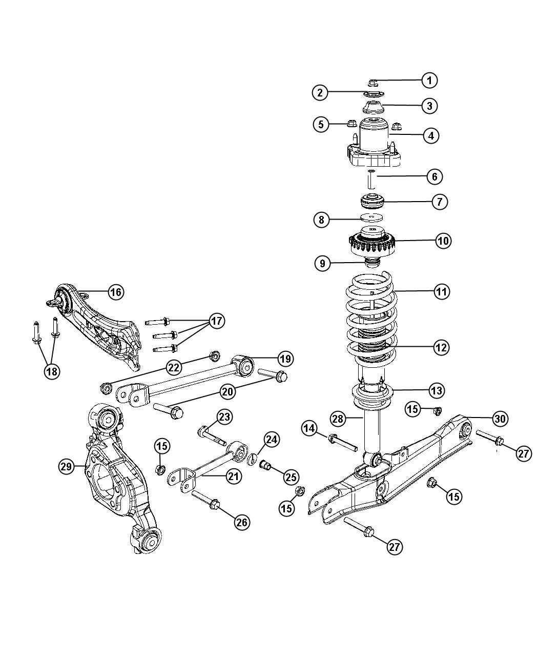 Dodge Journey Link Assembly Toe