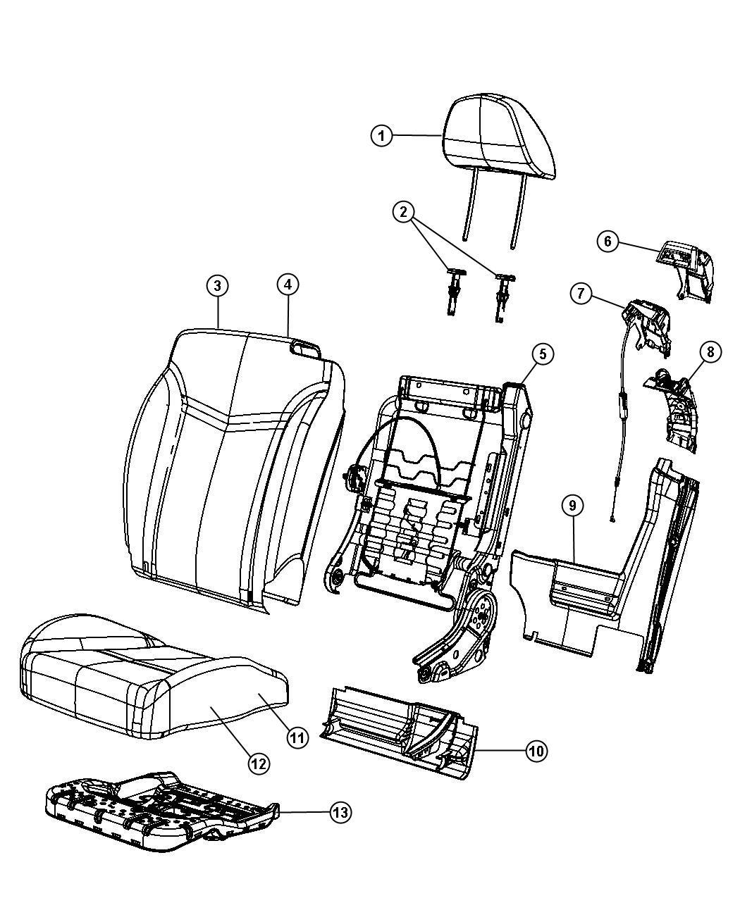 Chrysler Sebring Headrest. Front. Trim: (*n7.)color: (-x9
