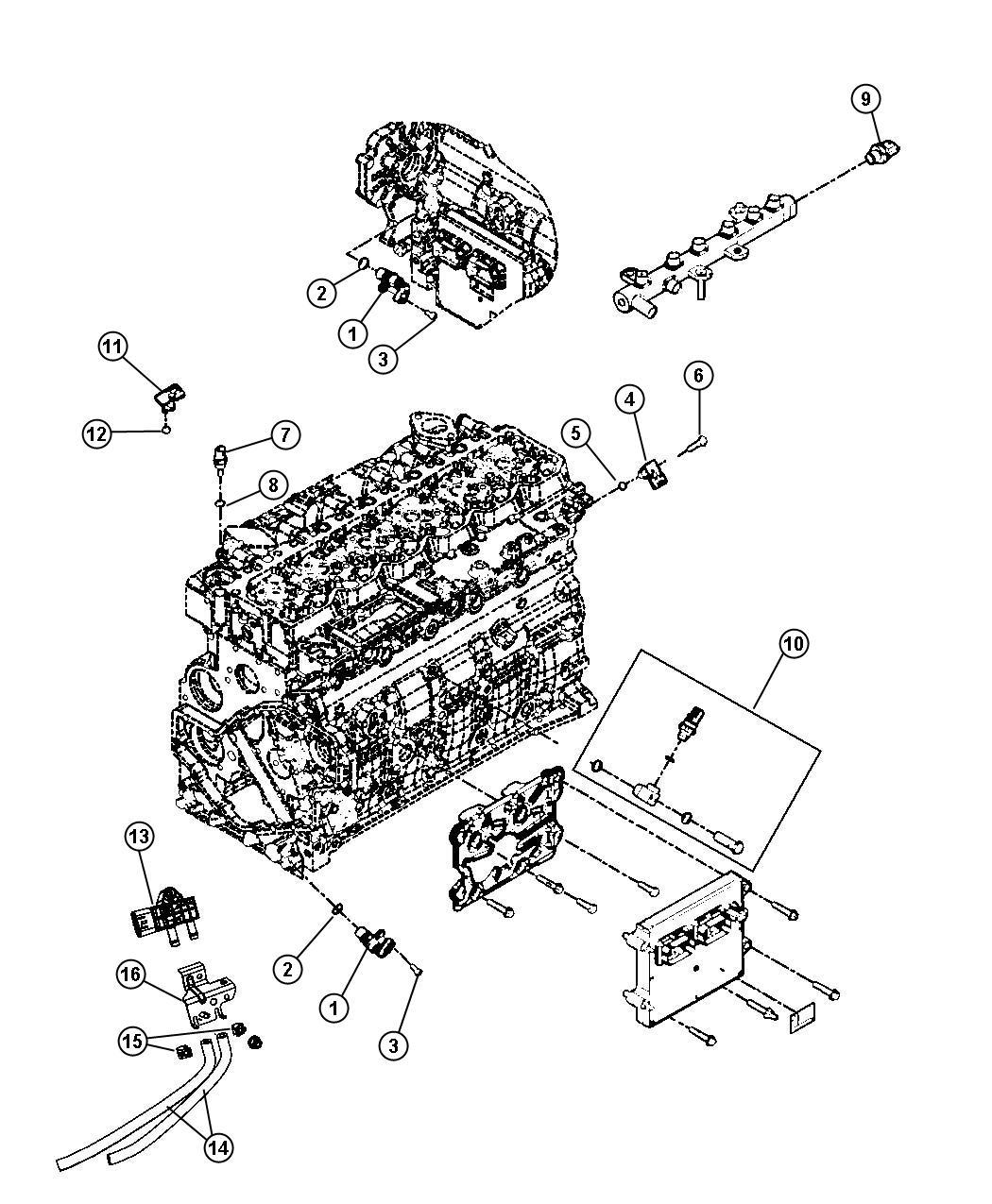 1998 Dodge Ram 1500 Sensor. Temperature sending unit