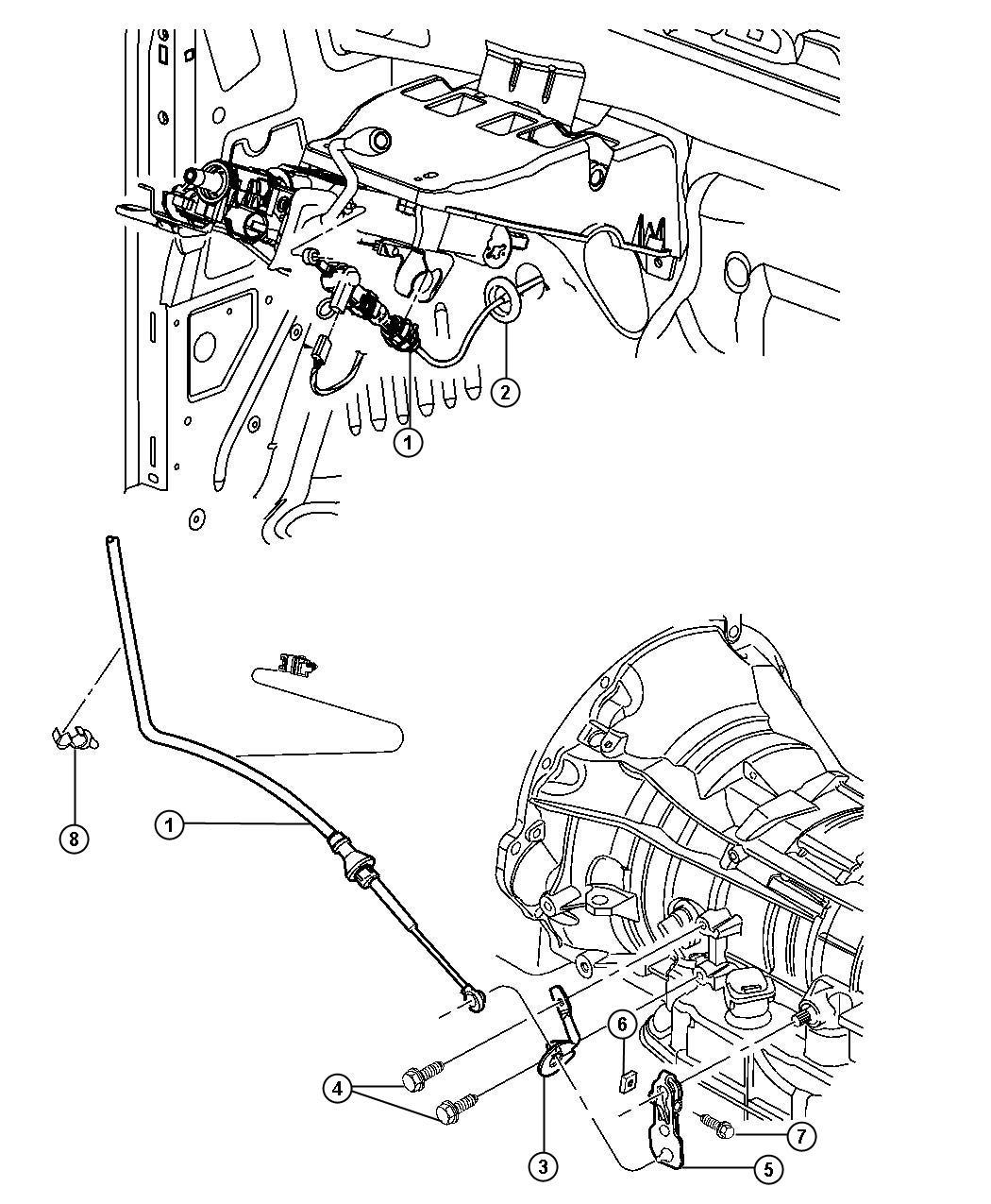 1995 Jeep Wrangler Cable, clip. Attaching, brake tube