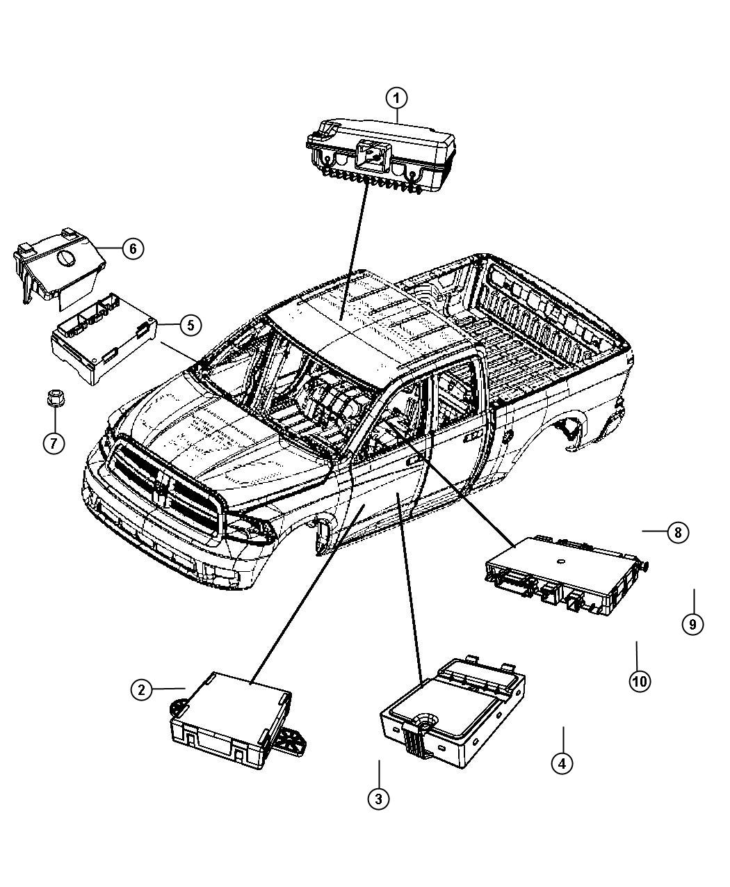 Dodge Ram 1500 Module. Heated seat. Trim: [premium seats