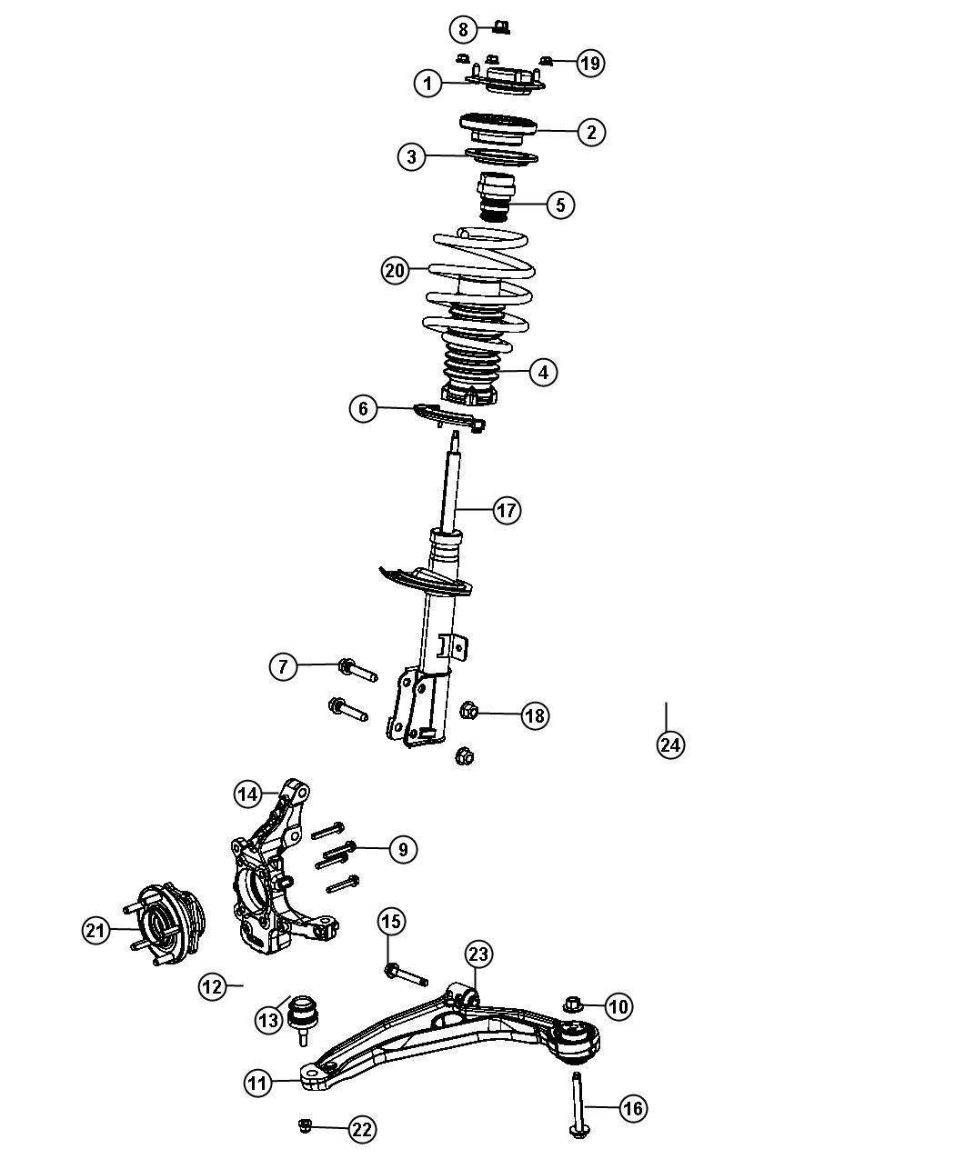 Service manual [2012 Dodge Journey Front Spring Removal