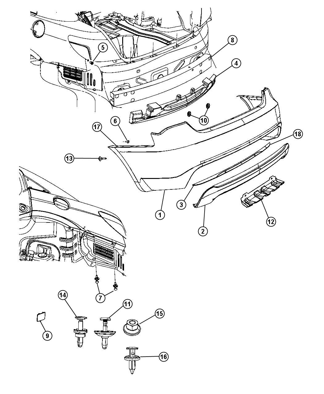 2012 Chrysler 200 Fascia. Rear upper. Primed. [body color