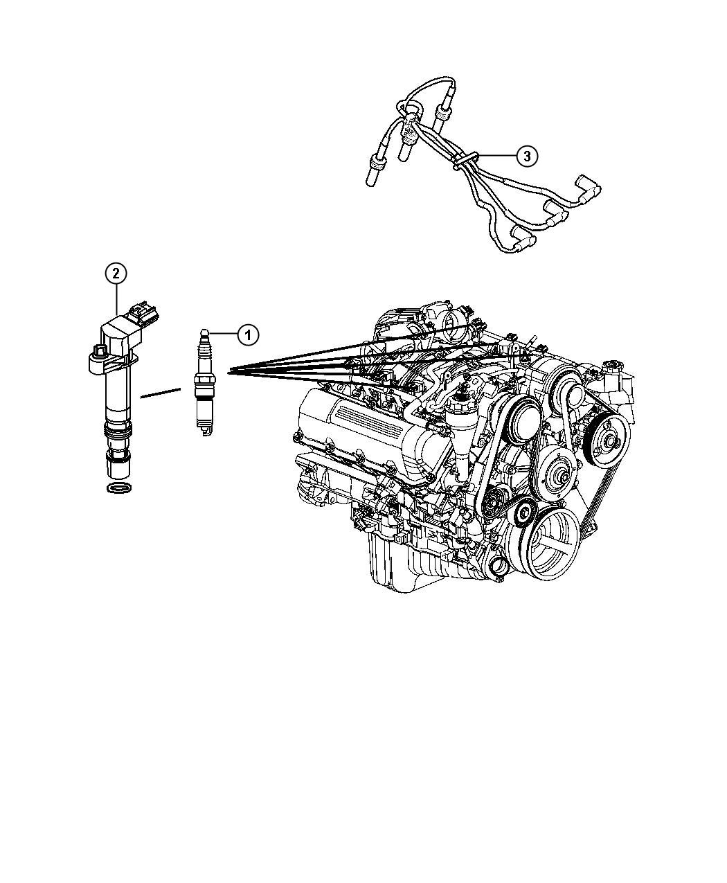 2012 Jeep Liberty SPORT Spark Plugs and Ignition Coil.