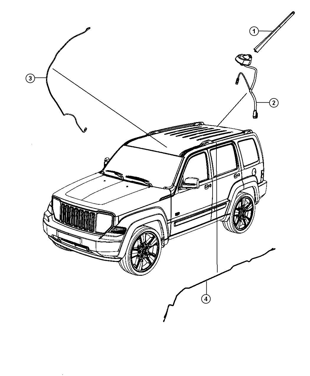 2012 Jeep Liberty Antenna. Used for: base cable and