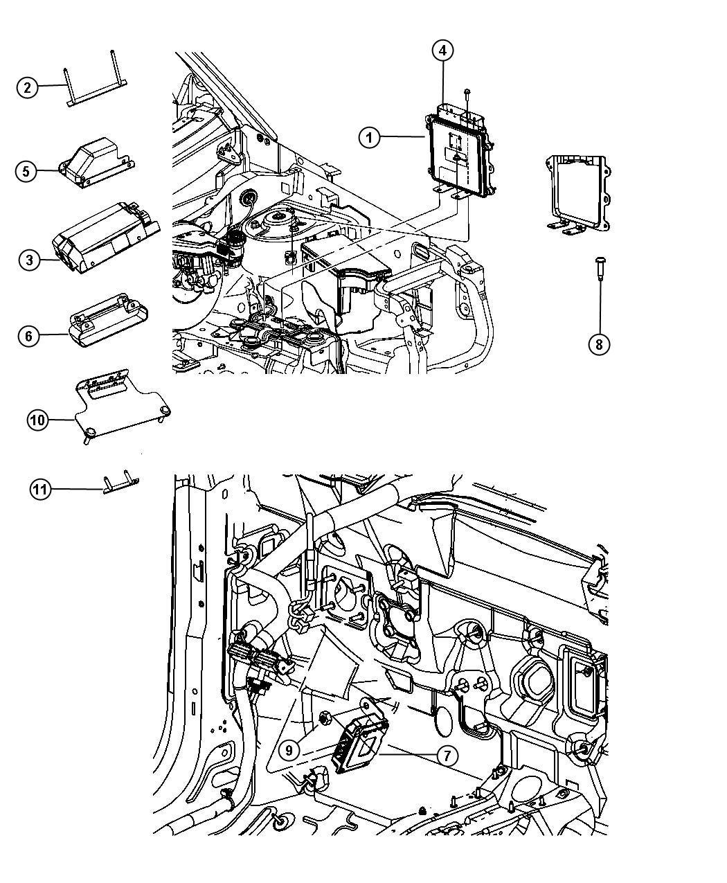 2012 Jeep Patriot Module. Powertrain control. Generic