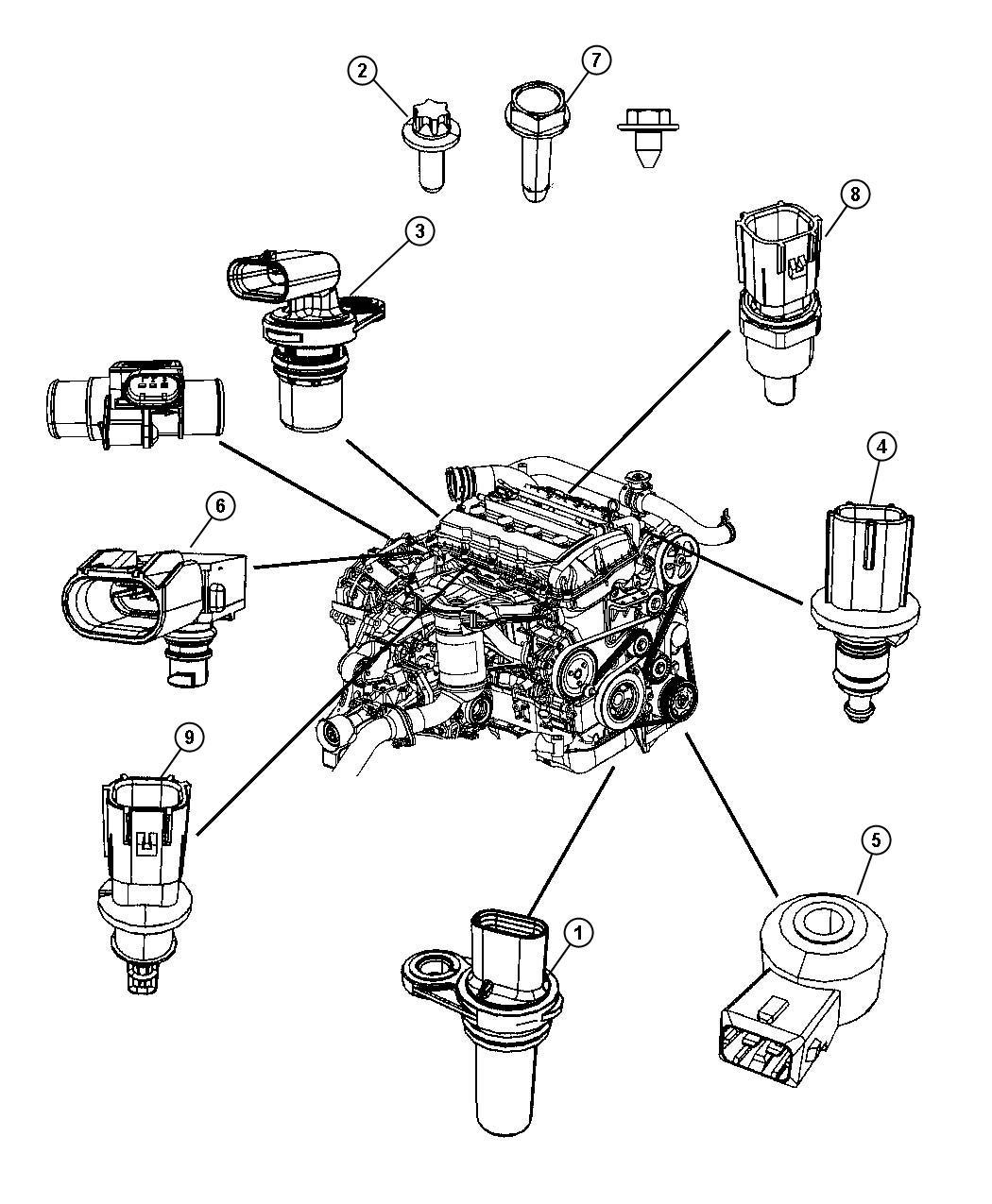 2012 Jeep Compass Sensor. Crankshaft position. Eba