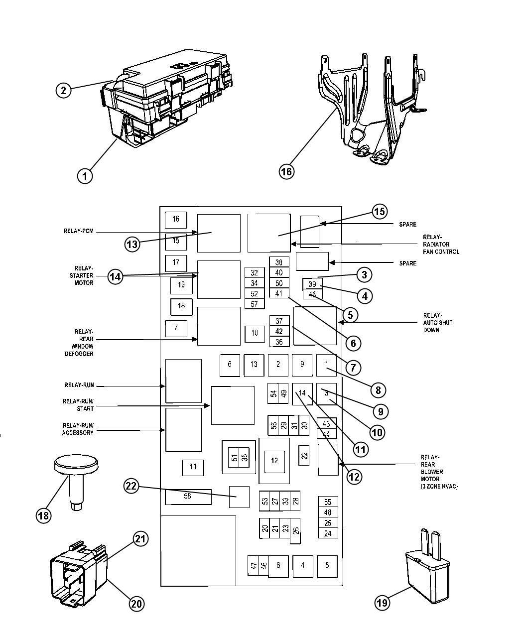94 Dodge Ram Factory Radio Wiring Diagram 68105507ad Chrysler Module Totally Integrated Power