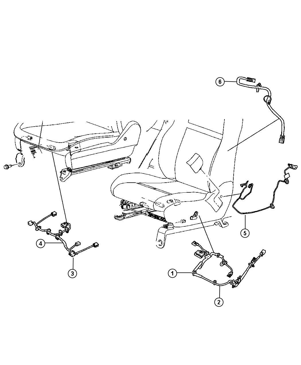 Dodge Grand Caravan Wiring. Power seat, seat. Trim: [lux