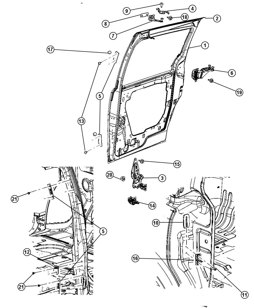 Service manual [2012 Chrysler Town Country Sliding Door