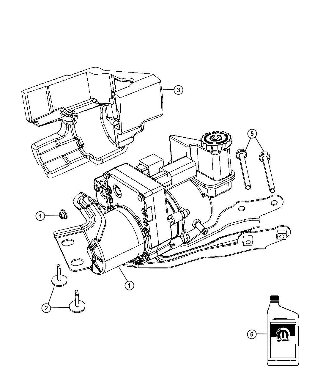 Power Steering Pump and Resrvoir Non-SRT