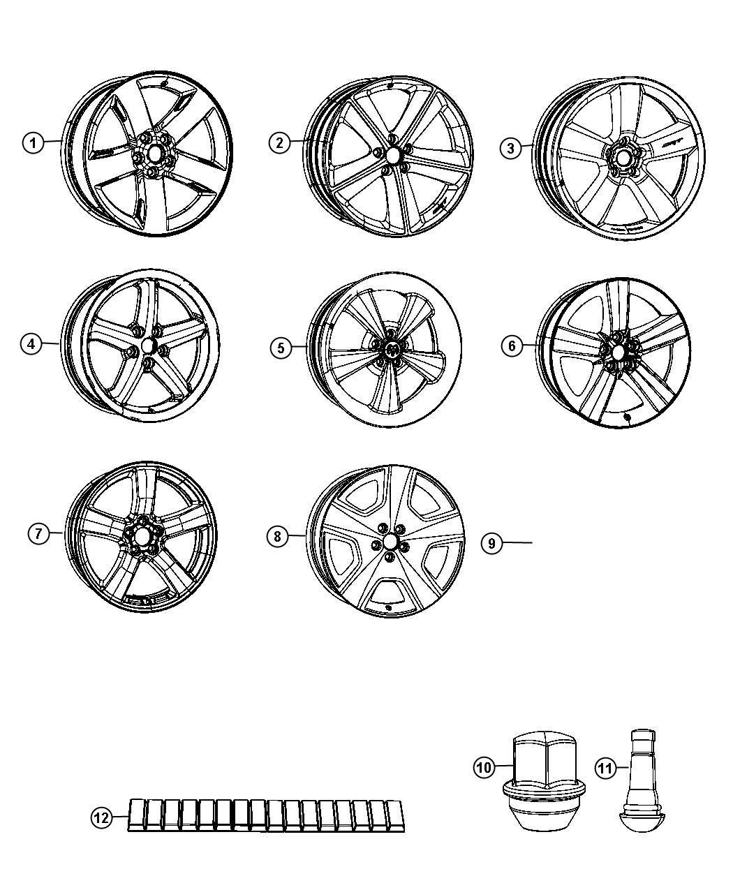 Dodge Challenger Wheel Aluminum Front Or Rear 20x9 0