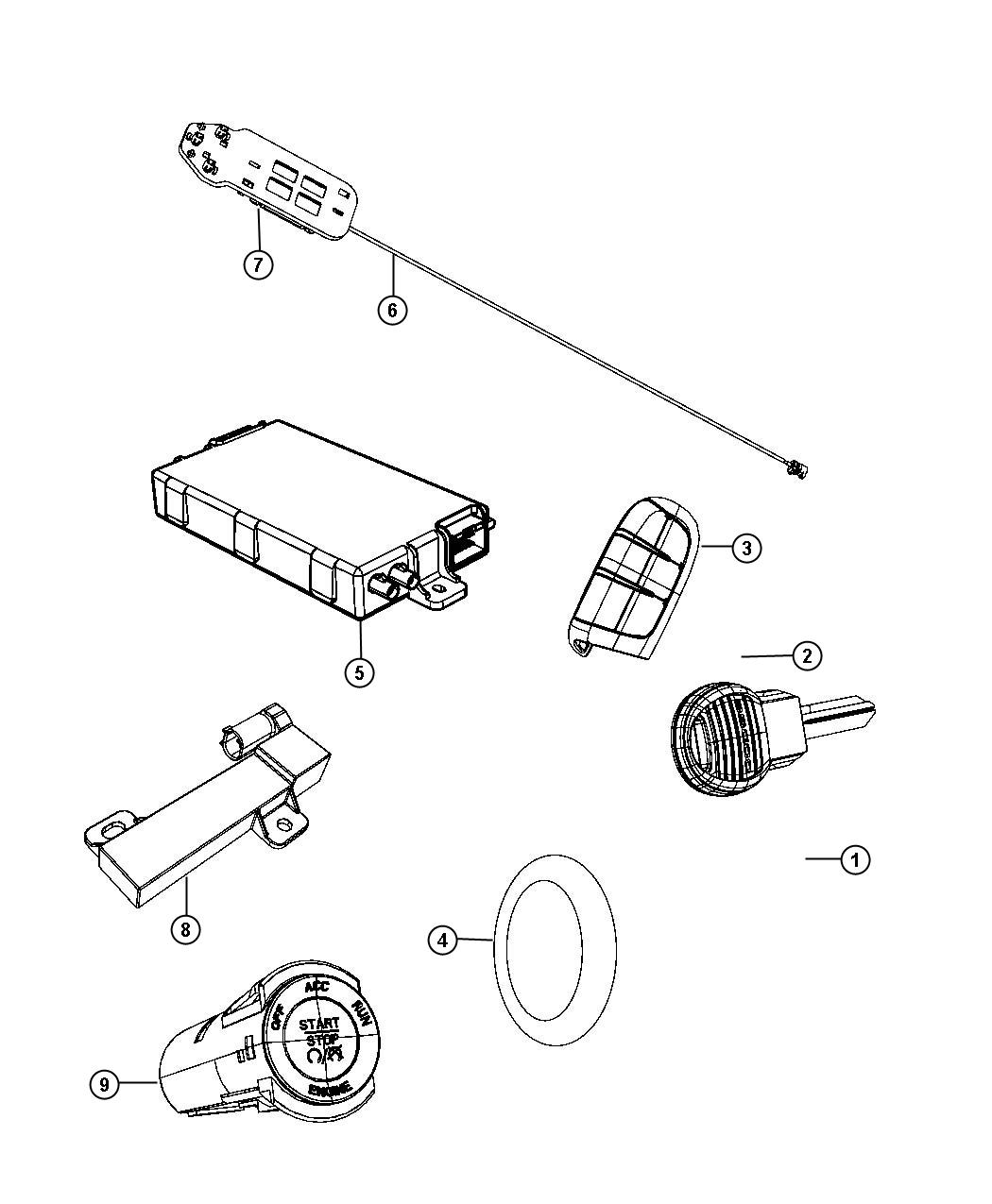 Chrysler 300 Module, switch. Ignition, ignition switch