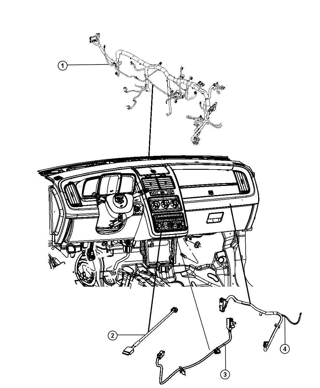 RAM C/V TRADESMAN Wiring. Jumper. Usb. Export, mexico, us