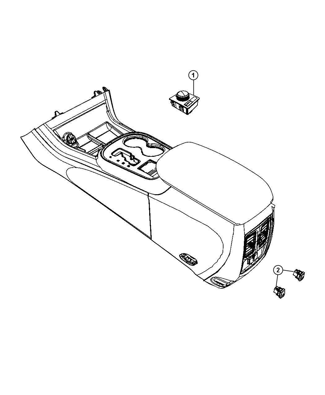 Jeep Grand Cherokee Switch. Transfer case. Caseload