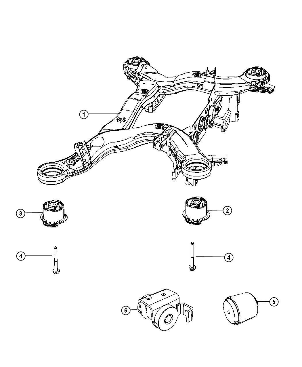 Jeep Grand Cherokee Cradle,Rear Suspension
