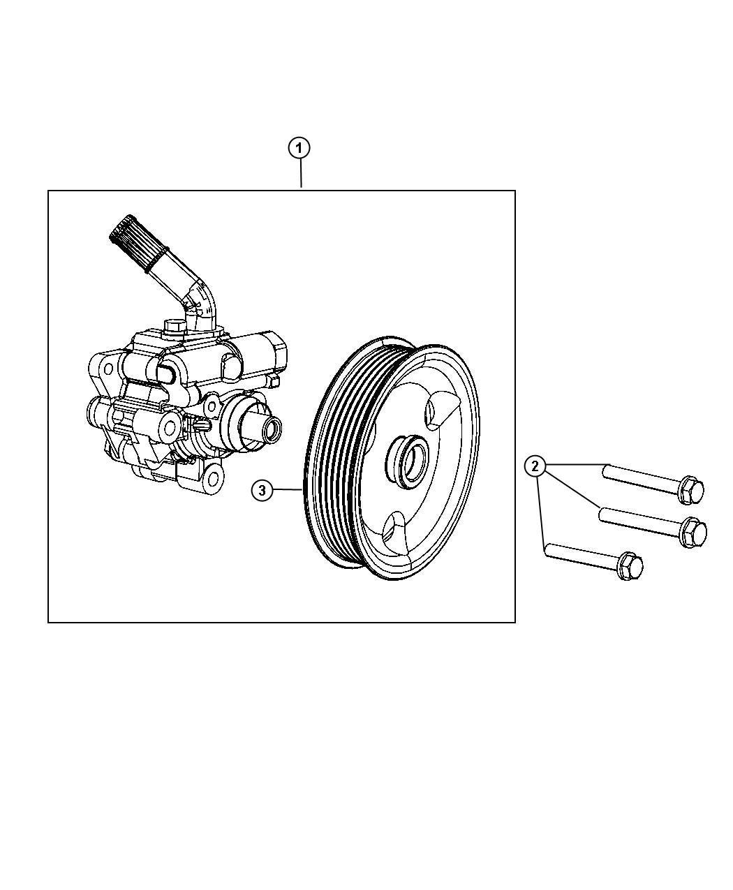 2011 Jeep Grand Cherokee Pump. Power steering. Sreering