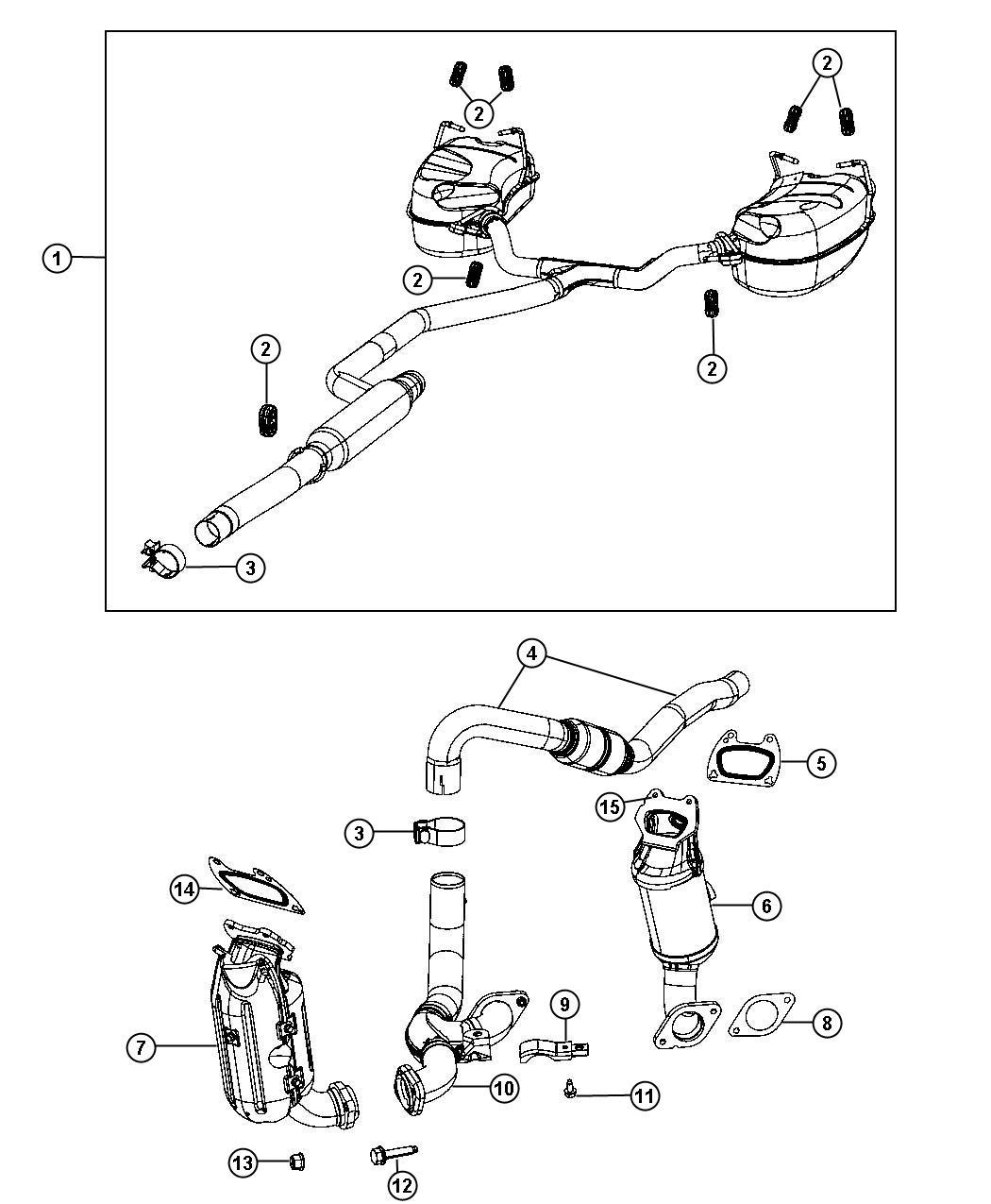 Jeep Wrangler Bracket. Catalytic converter. Mounting rail