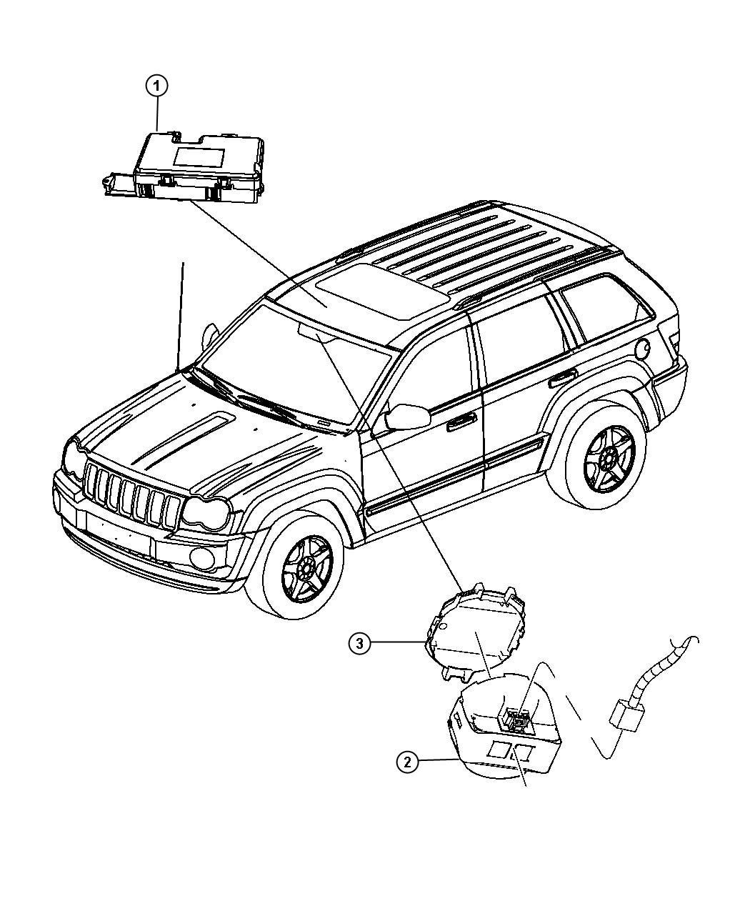 Jeep Grand Cherokee Cover Rain Sensor Rain