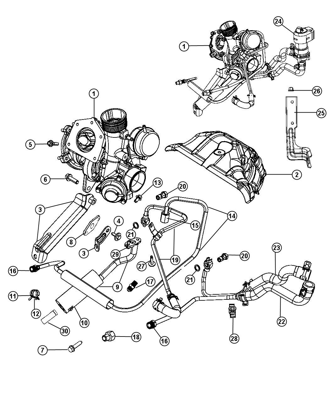 2008 Dodge Avenger Thermostat Location Diagram