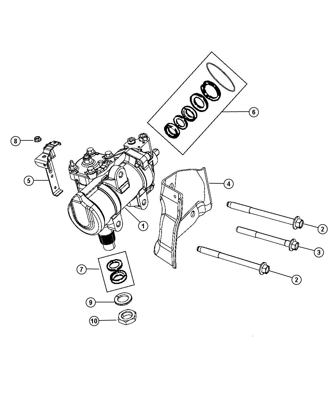 Dodge Ram Master Seal Kit Steering Gear