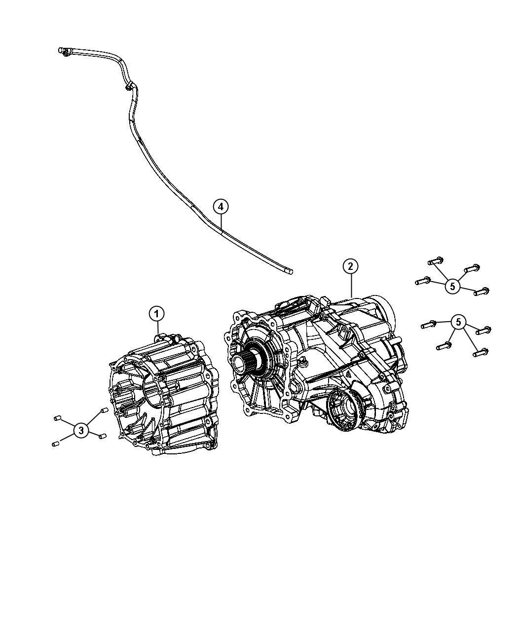 2013 Jeep Grand Cherokee Transfer case