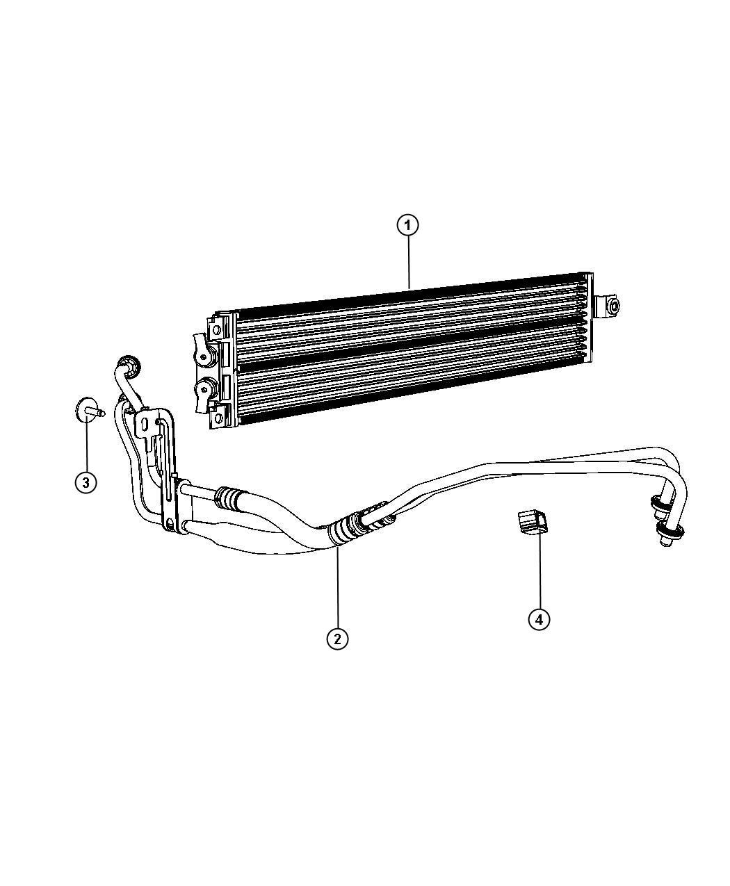 [Transmission Cooler Line 2011 Dodge Grand Caravan Replace