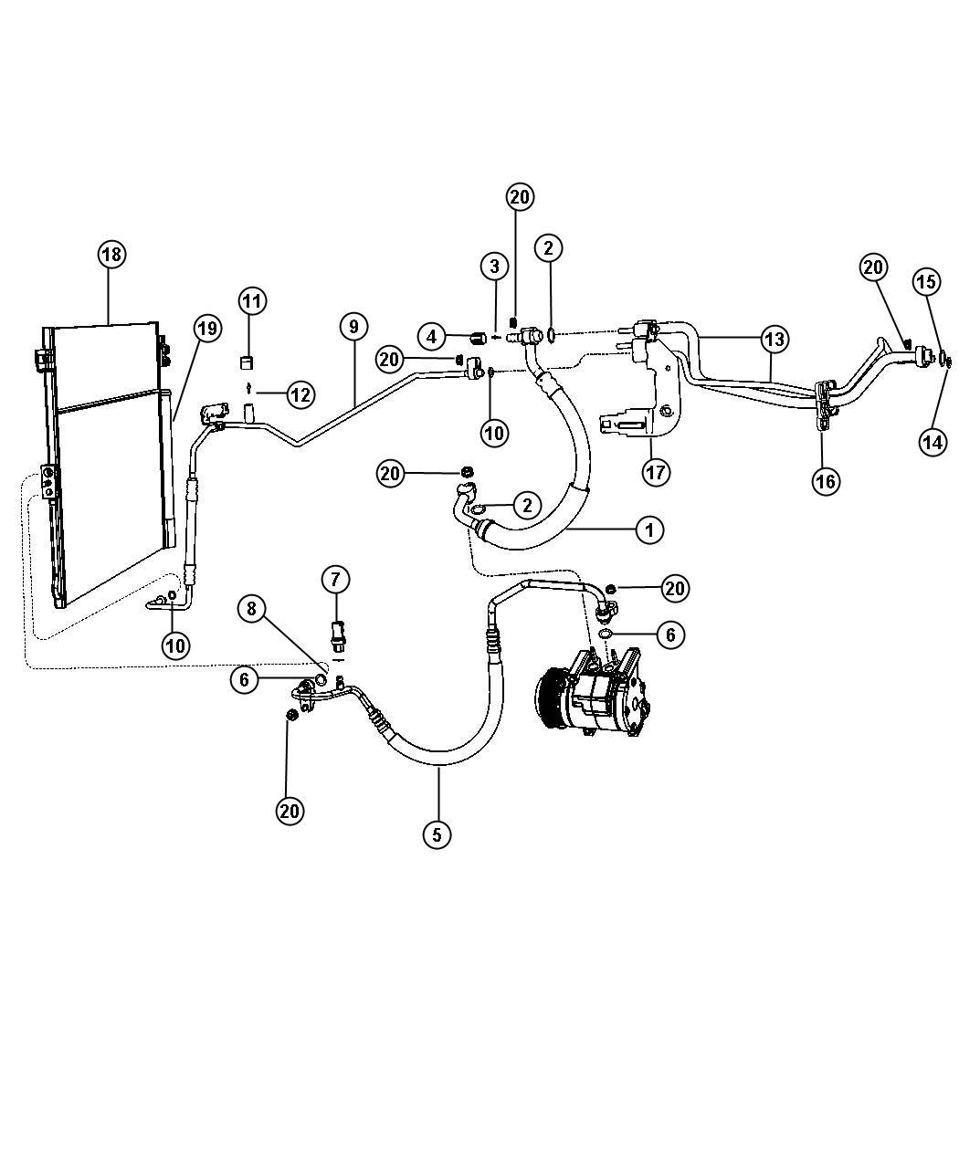 2013 Jeep Cap. A/c charge valve. [r1234yf a/c refrigerant