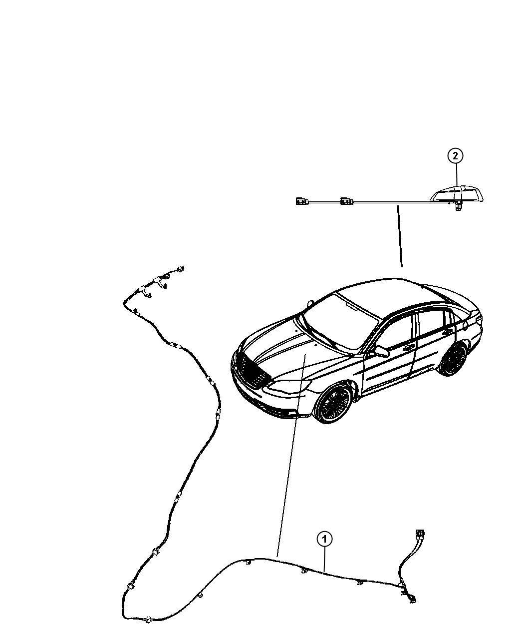 Chrysler 200 Cable, wiring. Radio, satellite radio