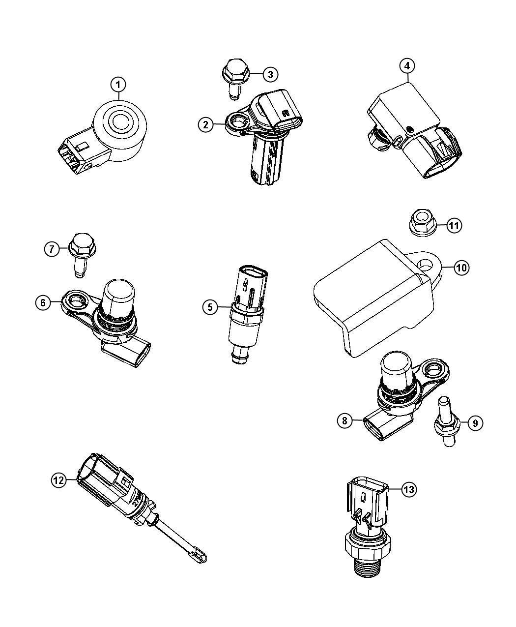 Dodge Dart Sensor Oil Pressure