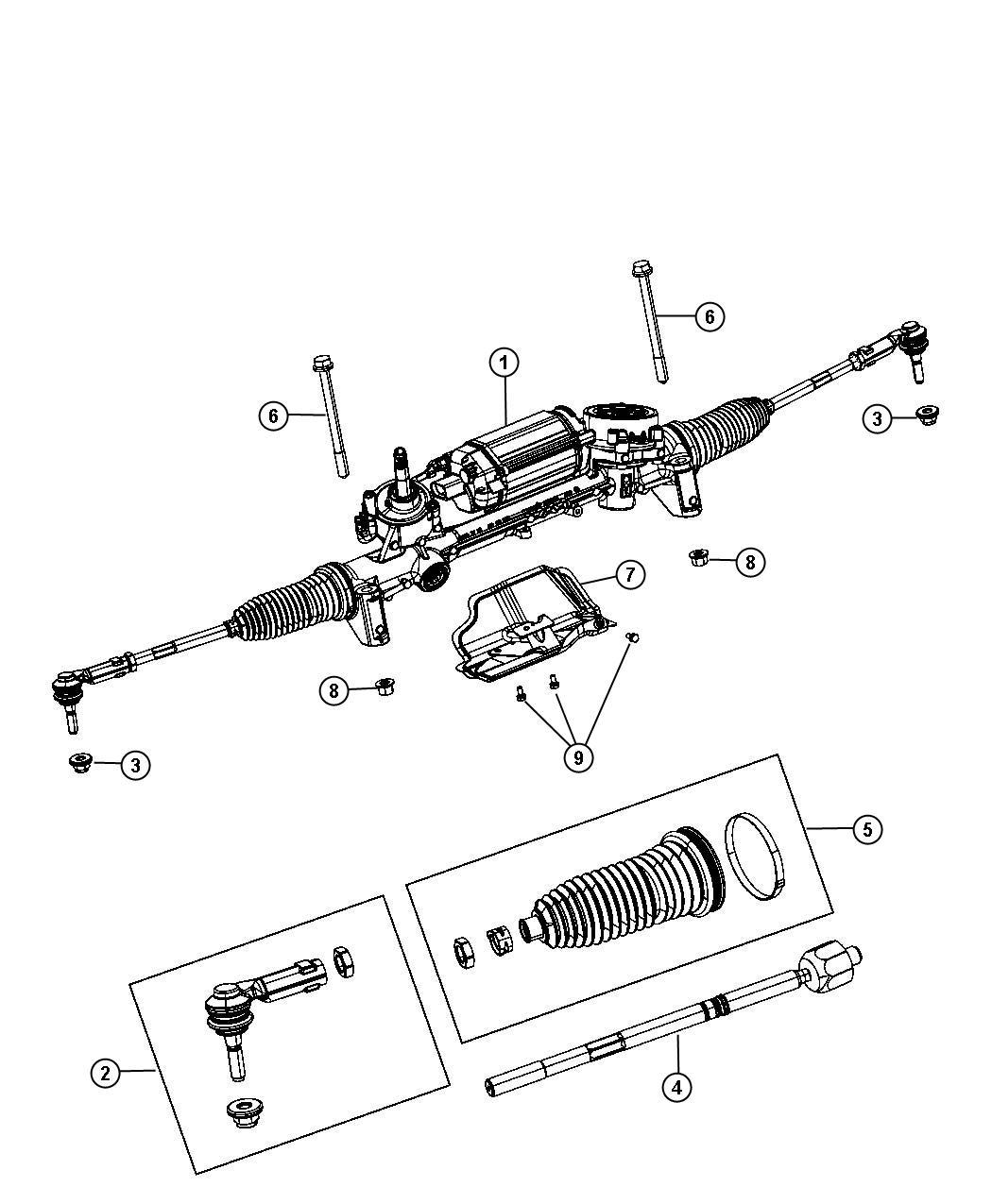 Dodge Dart Tie Rod End Inner