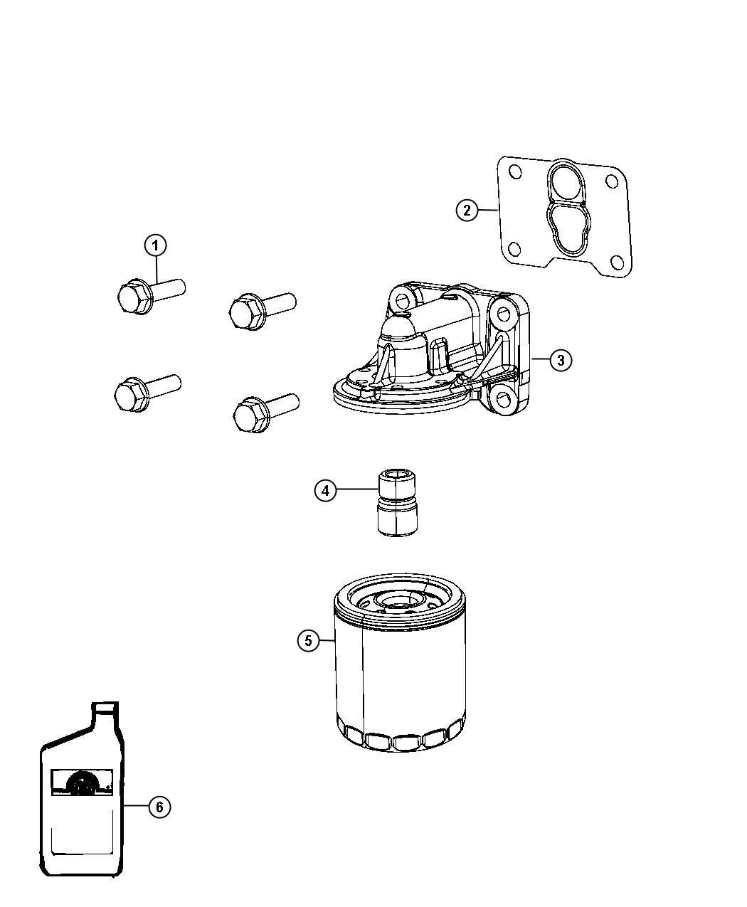 Dodge Journey Gasket Oil Filter Adapter