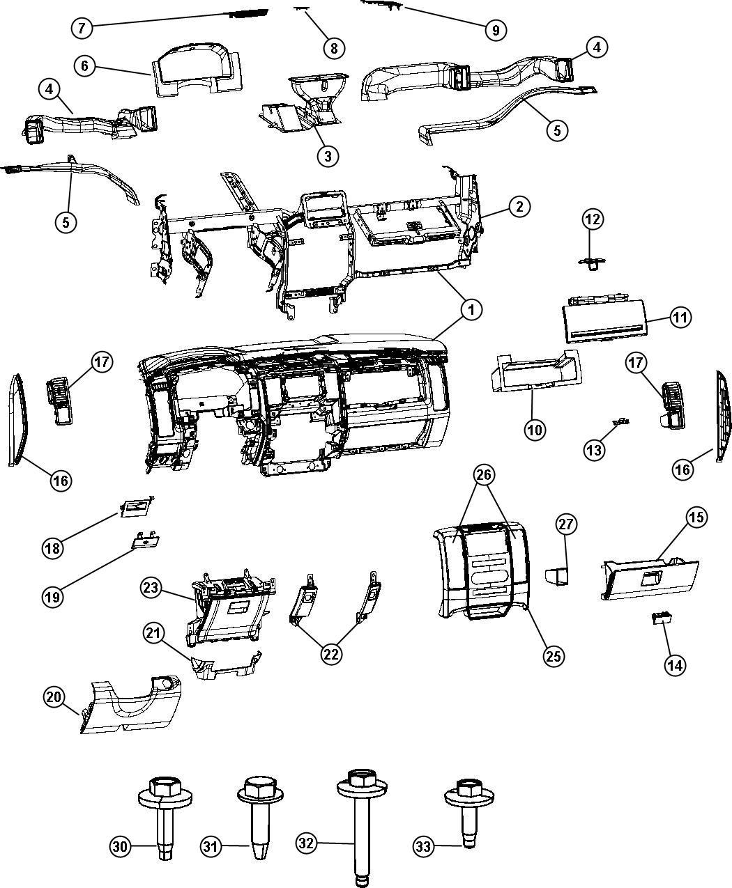 Dodge Ram Instrument Panel Lights