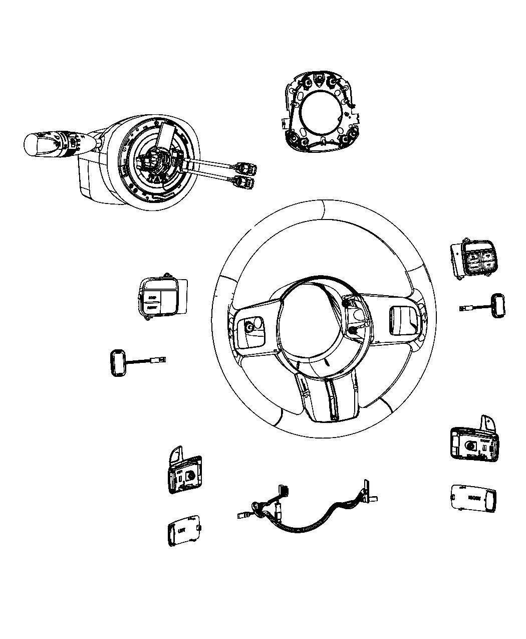 2012 Dodge Challenger Module. Steering column. Trim: (*o0