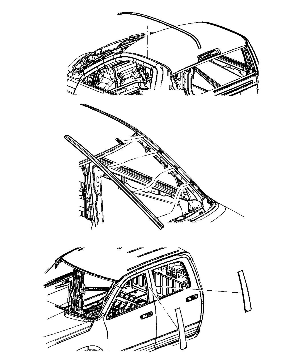 Dodge Molding Rear Door Left Right Chrome