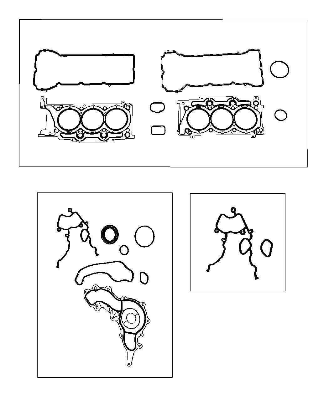 Jeep Wrangler Gasket Crossover Water Outlet 3 6l