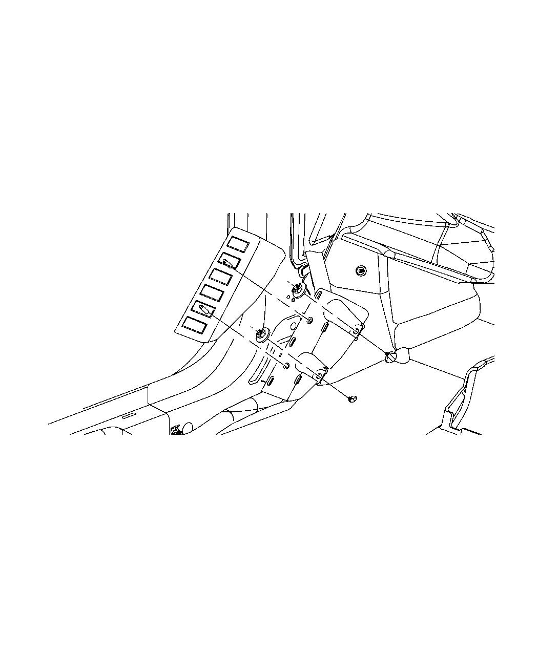 Jeep Patriot Footrest Support Trim All Trim Codes