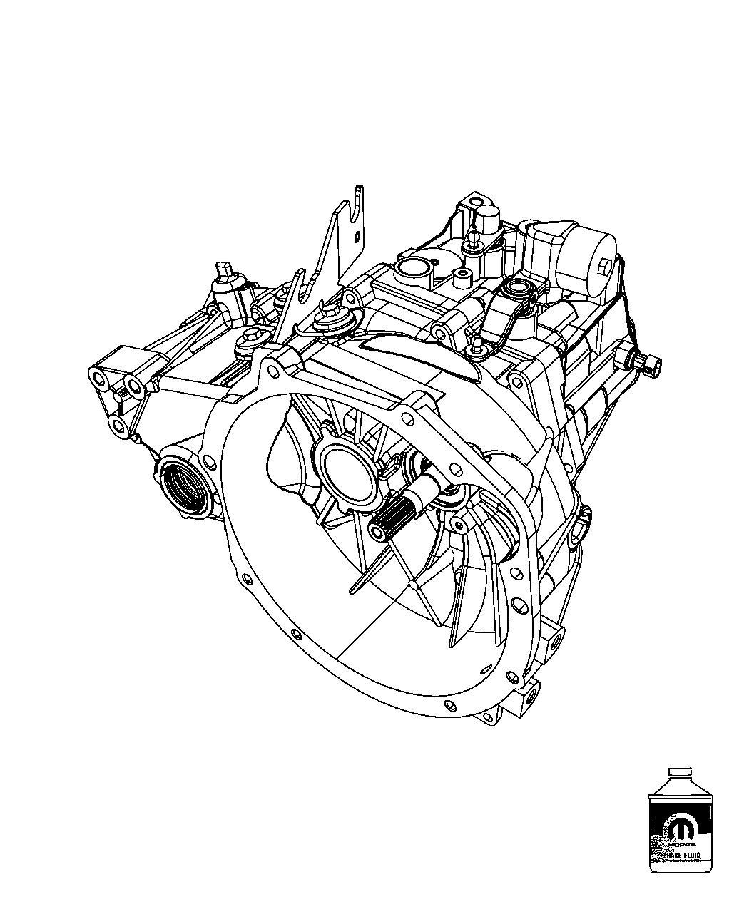 2012 Jeep Patriot Transaxle, transmission. 5 speed