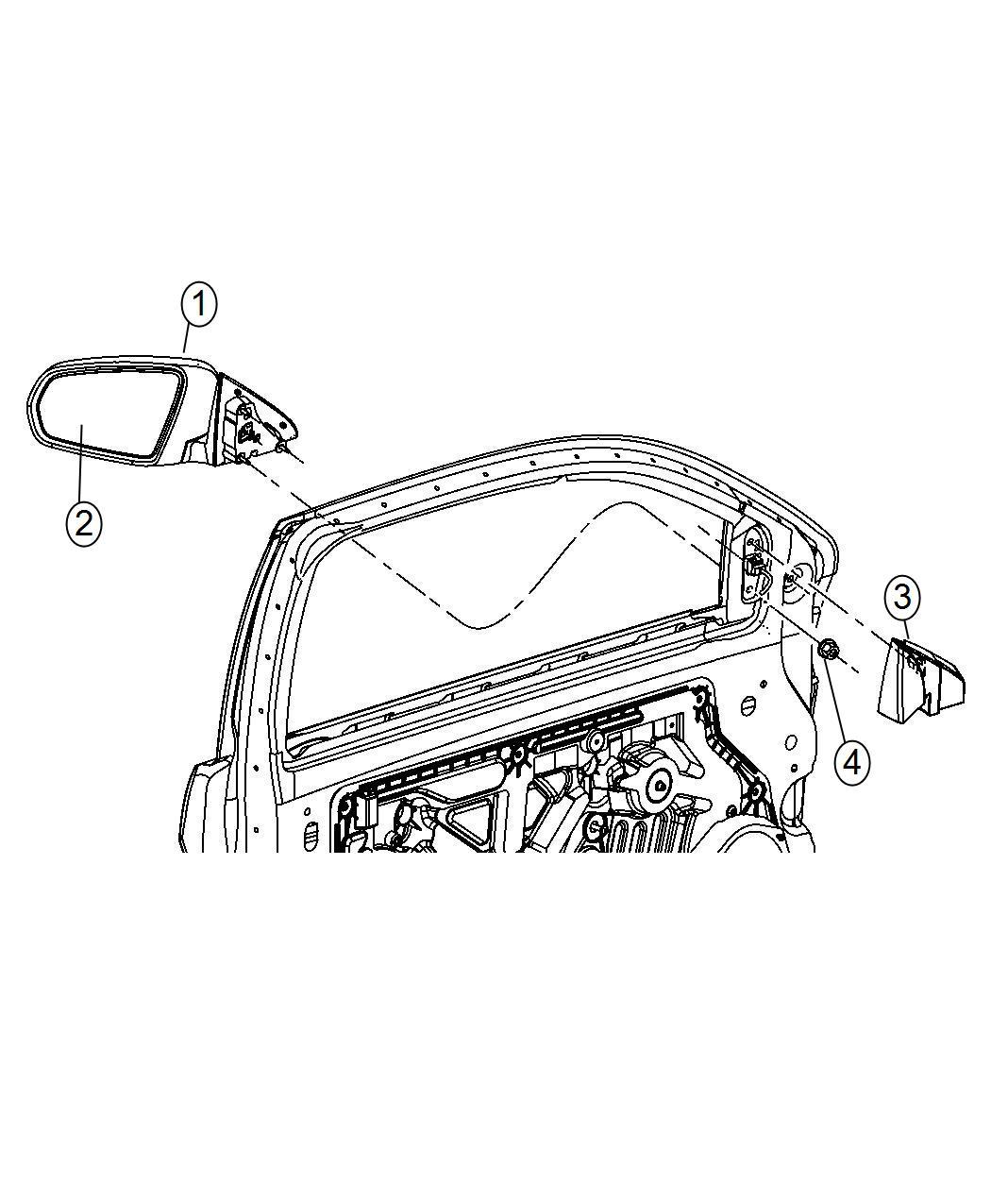 Chrysler 200 Bezel Mirror Opening Cover Right Trim