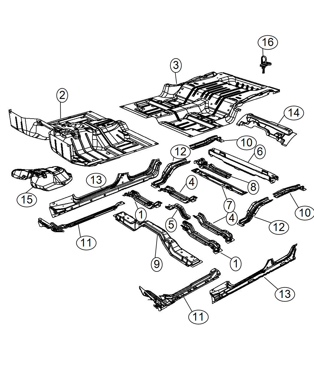 2014 Jeep Latch. Load floor cover. Trim: [all trim codes