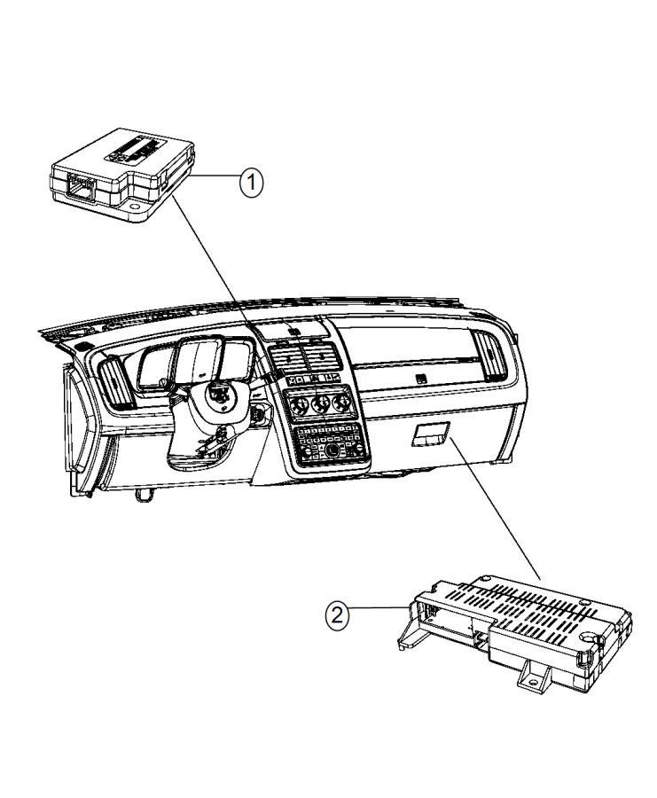 Dodge Journey Module. Telematics, uconnect. Hands free