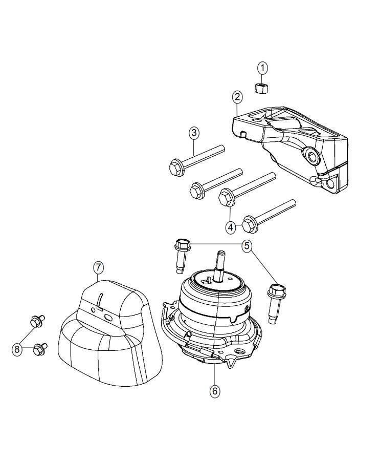 2013 Jeep Grand Cherokee Isolator. Engine mount. Left side