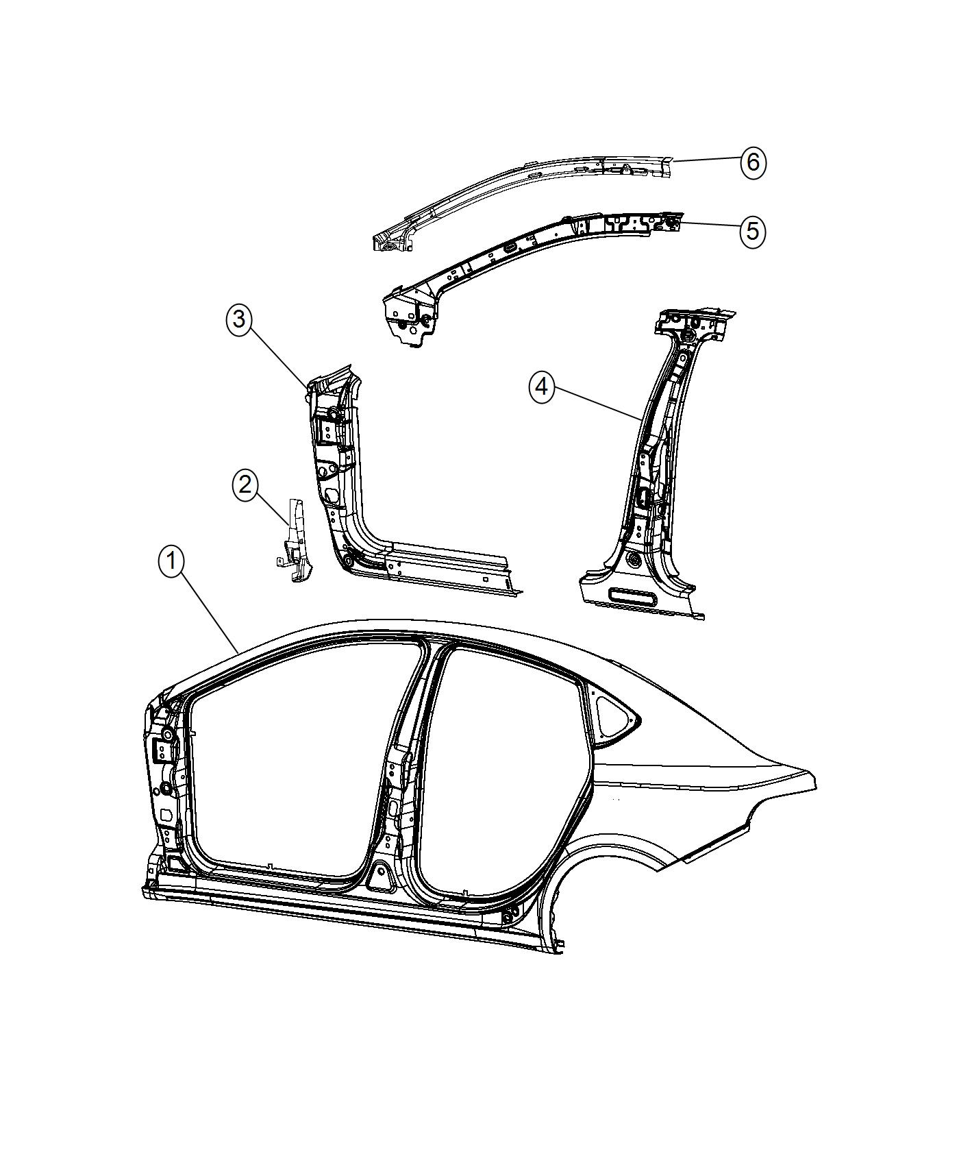 2016 Dodge Dart Panel. Body side aperture outer. Right